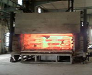 Castings in HT furnace
